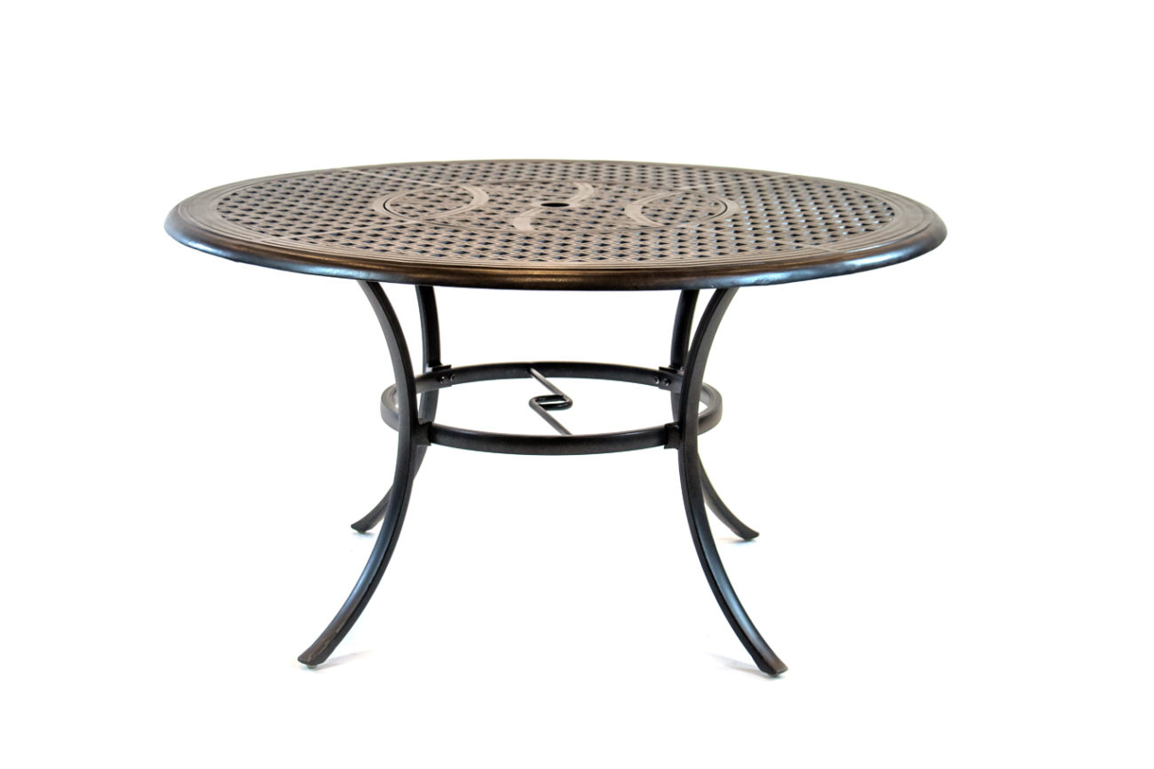 Round Dining Table W Inlaid