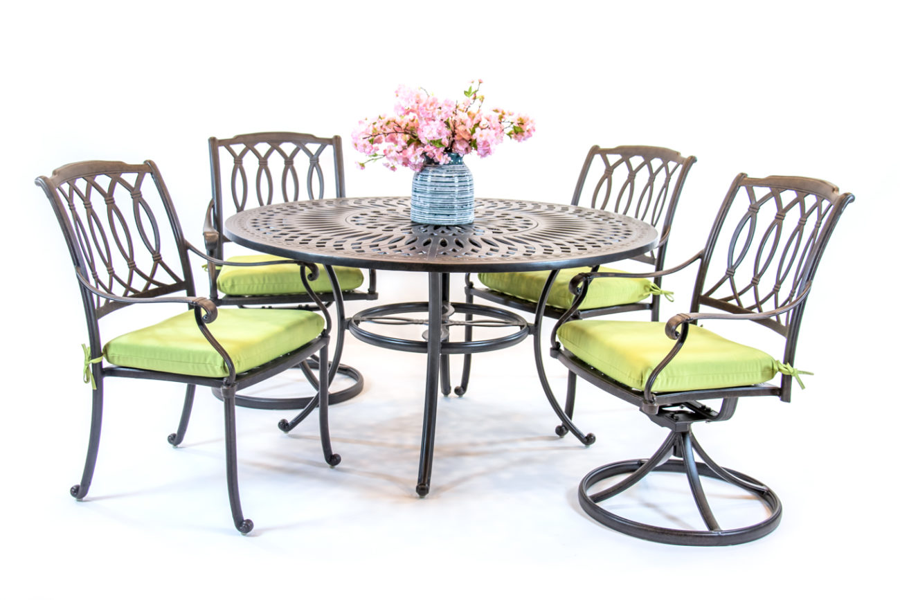Picture of: Hanamint Mayfair Dining Sets Round Table Set Premium Patio
